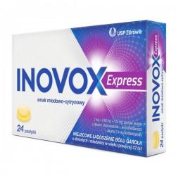 Inovox Express, smak miodowo-cytrynowy, 24 pastylki