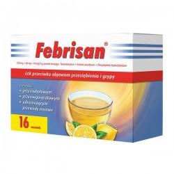 Febrisan, proszek musujący o smaku cytrynowym, 5 g, 16 saszetek