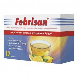 Febrisan, proszek musujący o smaku cytrynowym, 5 g, 12 saszetek