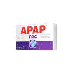 Apap Noc, 500 mg + 25 mg, 12 tabletek
