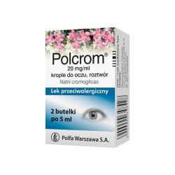 Polcrom krople do oczu, roztwór 0,02g/ml 10ml, POLPHARMA