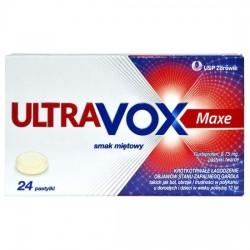Ultravox Maxe, o smaku miętowym, 24 pastylki do ssania