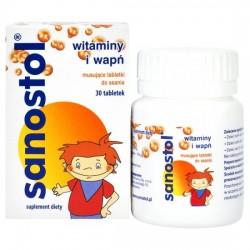 Sanostol, dla dzieci od 4 lat, 30 tabletek musujących do ssania