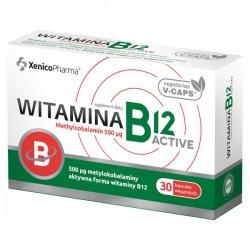 Witamina B12 ACTIVE, 500 µg, 30 kapsułek