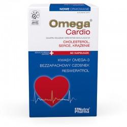 Omega Cardio + czosnek, 60 kapsułek, NUTROPHARMA