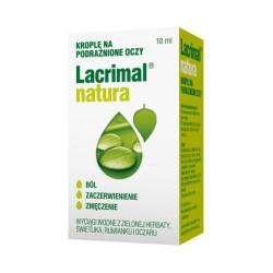 Lacrimal natura, krople do oczu, 10 ml, POLPHARMA