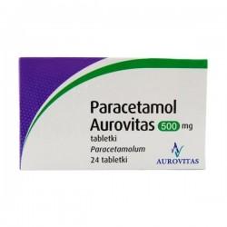 Paracetamol Aurovitas, 500mg, 24 tabletki