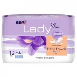 Wkładki urologiczne SENI LADY Slim Mini Plus, 12+4 sztuki