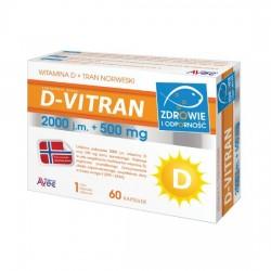 D-VITRAN 2000j.m.+500mg kaps. 0,5g 60kaps.