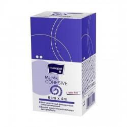 Bandaż elastyczny, samoprzylepny, jednorazowy Matofix Cohesive, 4m x 6cm, 1 sztuka