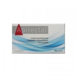 Apirectal, czopki propolisowe, 10 sztuk