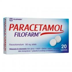 Paracetamol Filofarm tabl. 0,5g 20tabl.(bl