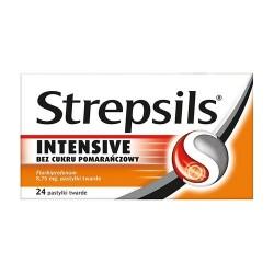 Strepsils Intensive bez cukru pomar.24past