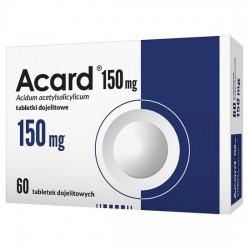Acard, 150 mg, tabletki dojelitowe powlekane, 60 sztuk