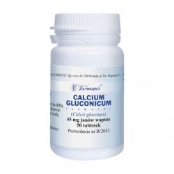 Calcium gluconicum, 45mg, 50 tabletek