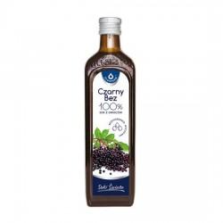 Czarny bez 100% sok z owoców czarnego bzu, 490 ml