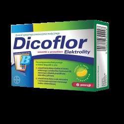 Dicoflor Elektrolity, 12 saszetek proszku do przygotowania zawiesiny doustnej, Bayer