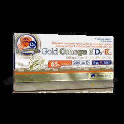 Gold Omega 3 D3+K2, 30 kapsułek, Olimp Labs
