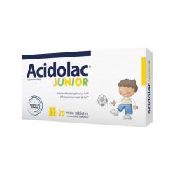 Acidolac Junior, 20 misio-tabletek o smaku białej czekolady, Medana Pharma