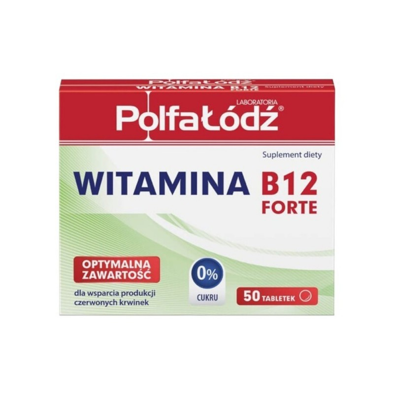 WITAMINA B12 Polfa Łódź tabl. 0,01mg x 50