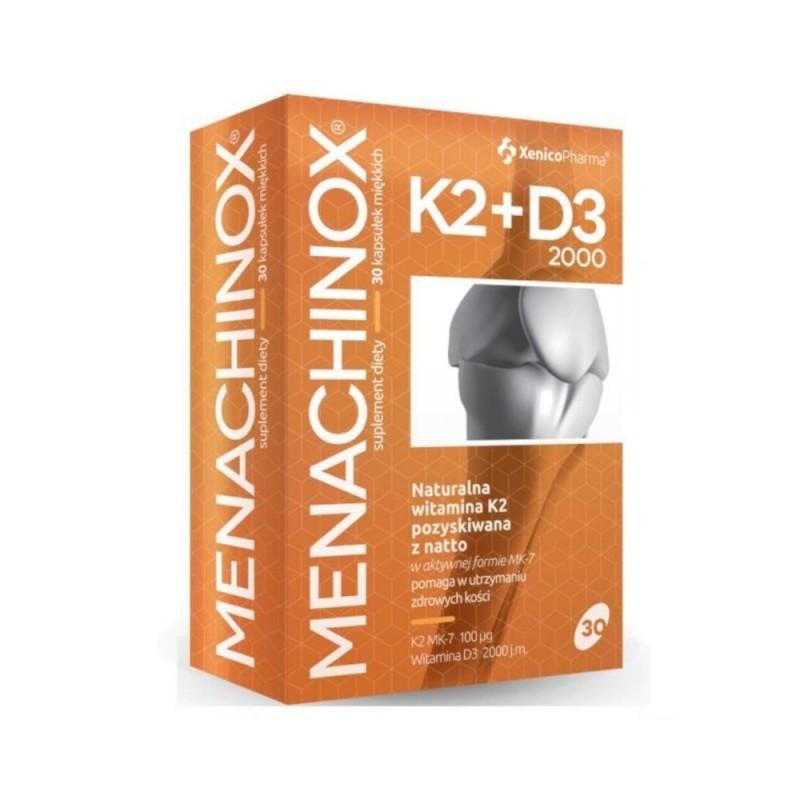 Menachinox K2 + D3 2000 kaps. 30 kaps.