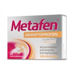 Metafen Dexketoprofen tabl.powl. 0,025g 20