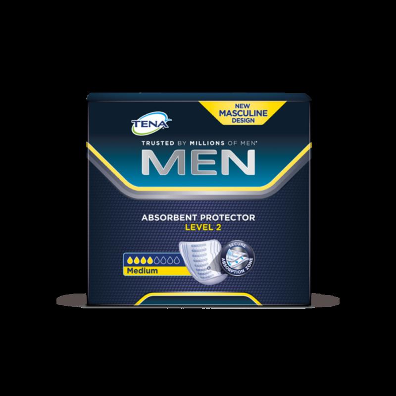 Wkłady anatomiczne TENA Men Medium (Level 2), 27 cm, 20 sztuk