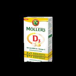 Mollers D3, 28 kapsułek + 28 tabletek, ORKLA