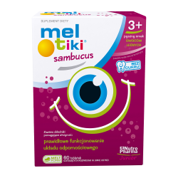 Mel-tiki Sambucus 60 tabletek.do ssania , NUTROPHARMA