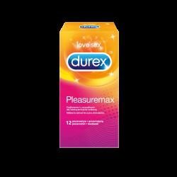 Prezerwatywy DUREX PleasureMax nawilżane 12 sztuk, Reckitt