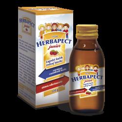 Herbapect junior, syrop o smaku malinowym, 120 ml, Aflofarm