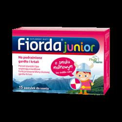 Fiorda Junior o smaku malinowym, 15 pastylek, PHYTOPHARM KLĘKA
